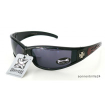Choppers Biker Sonnenbrille Fuel black-red