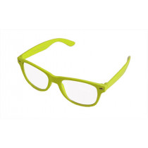 Retro Sonnnbrille Gelb-transparent