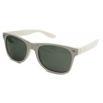 Blues Brothers Retro Sonnenbrille Wayfarer Big Size weiss