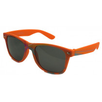 Rubber Retro Wayfarer Sonnenbrille orange