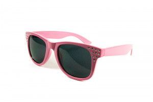 Retro Damen Sonnenbrille Diamonds Pink